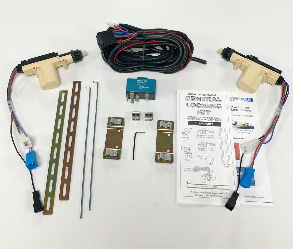 2 Door Locking Kit, cable locking motors - Wolfelec.co.uk Hardware Door Wire Harness on
